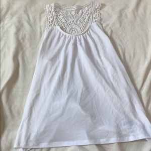 White tank top with lace back